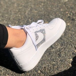 Nike Shoes - Rhinestone Crystal Air Force One bedazzled 1581de1de